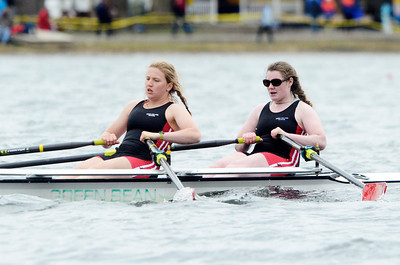Erica Miller @togianphotog - The Saratogian:    On Sunday April 27th, 2014, on Saratoga Lake, Saratoga Rowing Association held the Saratoga Invitational as Emma Willard made it through on the Race 69b in the Women's Varsity 2x.