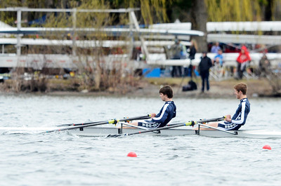 Erica Miller @togianphotog - The Saratogian:    On Sunday April 27th, 2014, on Saratoga Lake, Saratoga Rowing Association held the Saratoga Invitational as Saratoga made it through on the Race67b in the men's Varsity 2x.