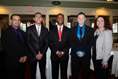 Among Code Blue volunteers  attending the Shelters of Saratoga Gala Thursday at Longfellows are from right: Kelly Pressley and U.S. Navy personnel Amanda Moore, Devante Lewis, Jasper Aganon and Chauncey Jones.