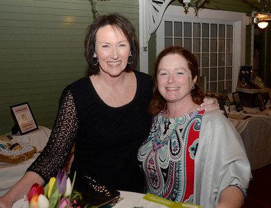 Ed Burke -The Saratogian 04/03/14 Saratoga Casino and Raceway's Senior Sales Manager Colleen Carlson, left, and Food and Beverage Director Jennie Jurkiewicz attend the Shelters of Saratoga gala at Longfellows Restaurant.
