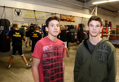 Ed Burke - The Saratogian 01/22/14 Brothers Mike Barcia, age twelve, and Joe Barcia, age fourteen, are members of Saratoga Youth Boxing Association on Weible Ave.