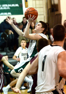 Ed Burke - The Saratogian 01/21/14 Greenwich's Sean Estramonte goes to the basket during Tuesday's matchup at Greenwich against Stillwater.