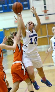 Ed Burke - The Saratogian 01/23/14 Saratoga's Ann Mahoney takes a shot during Thursday's girls' varsity basketball matchup versus Mohonasen at Saratoga.