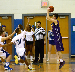 Ed Burke - The Saratogian 02/11/14 Ballston Spa's Cliff Stevens shoots from outside during Tuesday's game at Saratoga.