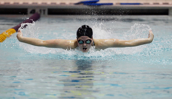 Erica Miller @togianphotog - The Saratogian    	The Ballston Spa Swimming and Diving team had 5 girls that will be competing in the State Finals in Ithaca this weekend. Junior Alyssa Gardiner worked on her butterfly in the pool on Thursday 11/20/13.   SAR-l-BspaSwim3