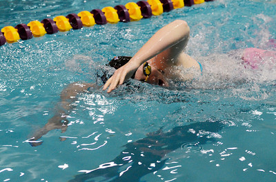 Erica Miller @togianphotog - The Saratogian    	The Ballston Spa Swimming and Diving team had 5 girls that will be competing in the State Finals in Ithaca this weekend. Junior Paris Walkowiak worked on her freestyle stroke in the pool on Thursday 11/20/13.   SAR-l-BspaSwim4
