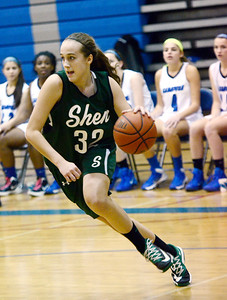 Ed Burke - The Saratogian 12/13/13 Shen's Carly Boland pivots towards the basket during Friday's game at Saratoga.
