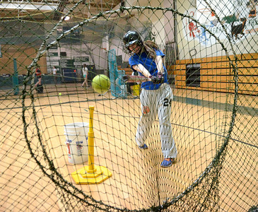 Ed Burke - The Saratogian 04/02/14 Greenwich's Maddie Schafer practices with the team Wednesday in the school's gym.
