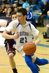 Ed Burke - The Saratogian 01/10/14 Saratoga's Sean Grecco drives to the basket during Friday's varsity basketball matchup against Burnt Hills-Ballston Lake at Saratoga.