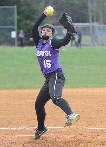 Ed Burke 04/23/14 Ballston's Spa Ashlyn Kersh pitches Wednesday against Guilderland at Ballston.