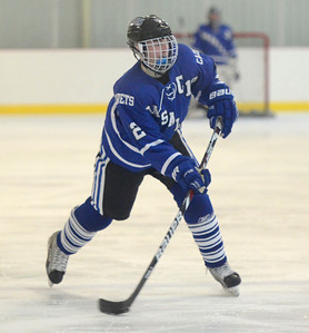 Ed Burke - The Saratogian 02/21/14 La Salle's Ben Gardenier takes a shot on goal during Friday's Sectional matchup against Saratoga at Saratoga.