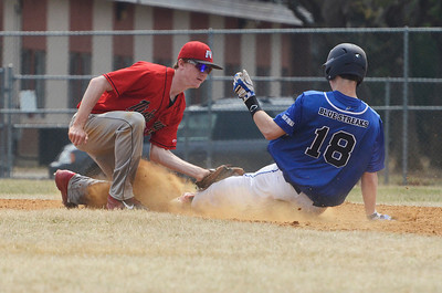 Erica Miller @togianphotog - The Saratogian:  Saratoga Springs High School held their first baseball home game on Monday afternoon at East Side Rec, April 14th, 2014, against Niskayuna. Saratoga's Jack Herman slides into second base as Nisky's Taylor Parks tagged out.