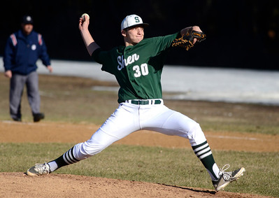 Ed Burke - The Saratogian 04/09/14 Shen pitcher Aaron Kalish throws against Saratoga during Wednesday's game at Shen.