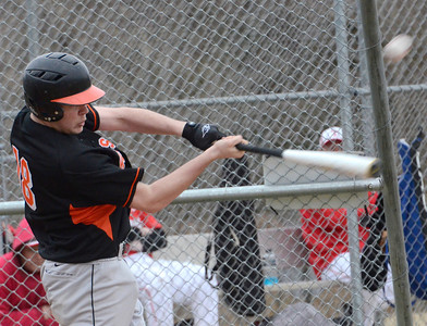 Ed Burke - The Saratogian 04/11/13 Ed Burke - The Saratogian 04/11/14 Schuylerville's Clayton Patrick connects for a base hit during Friday's game at Schuylerville against Tamarac. Tanner Dunkel was able to score on the play.