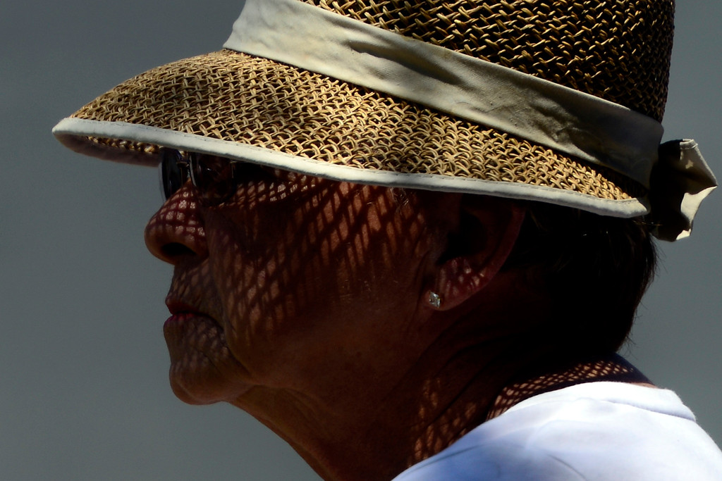 . A fan watches during a practice round for the Solheim Cup. The United States has never lost on a home course. (Photo by AAron Ontiveroz/The Denver Post)