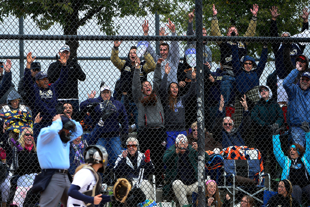 . Legacy fans cheer for their team agains Legend during the Lightning\'s 6-4 state title win at the Aurora Sports Park on Sunday, October 20, 2013. The win was Legacy\'s sixth title in seven years. (Photo by AAron Ontiveroz/The Denver Post)