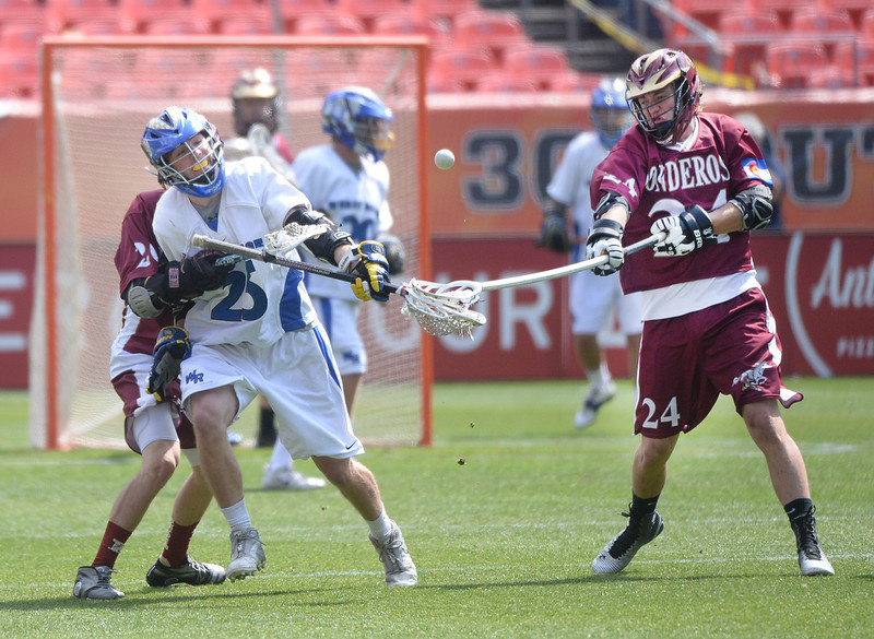 . Ponderosa High School boy\'s lacrosse team defeated Wheat Ridge 13-11 in the 4A championship game Saturday afternoon, May 17, 2014. (Photo by Karl Gehring/The Denver Post)