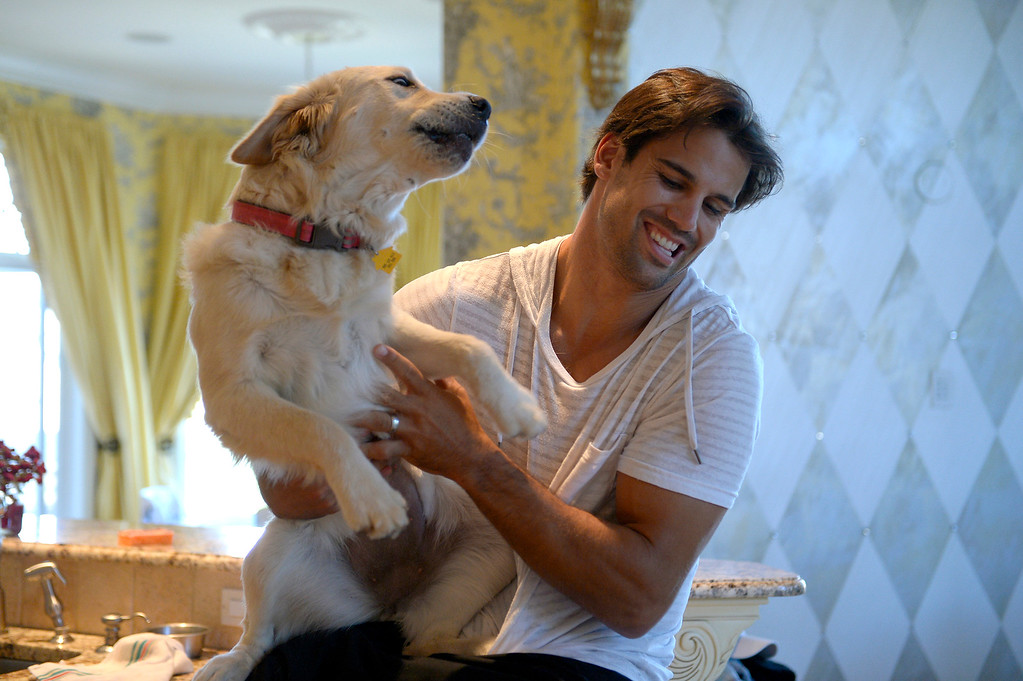 . CASTLE ROCK, CO. - JULY 17: Denver Broncos Eric Decker hangs out with Jenny at home July 17, 2013. Profile story on the wide receiver. (Photo By John Leyba/The Denver Post)