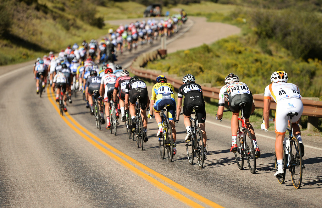 . Cyclists are in the 1st Stage of 2014 USA Pro Challenge. Aspen, Colorado. August 18. 2014. The Aspen/Snowmass Circuit is 65 miles (3 laps of nearly 22 miles each), and 2,300 ft. of climbing per lap. (Photo by Hyoung Chang/The Denver Post)