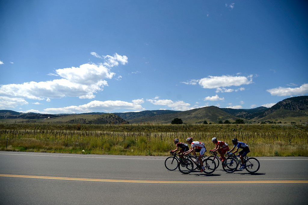 . Riders cruise on CO-93 during stage 7. The USA Pro Challenge stage 7 on Sunday, August 24, 2014. (Photo by AAron Ontiveroz/The Denver Post)