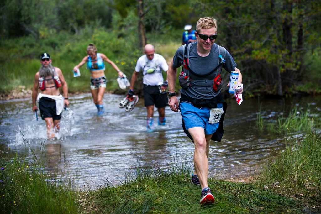 . Bowman Beeman #52 and other runners make their way along the course during the 2014 Leadville Trail 100 ultramarathon on Saturday, August 16, 2014 in Twin Lakes, Colorado.  (Photo by Kent Nishimura/The Denver Post)