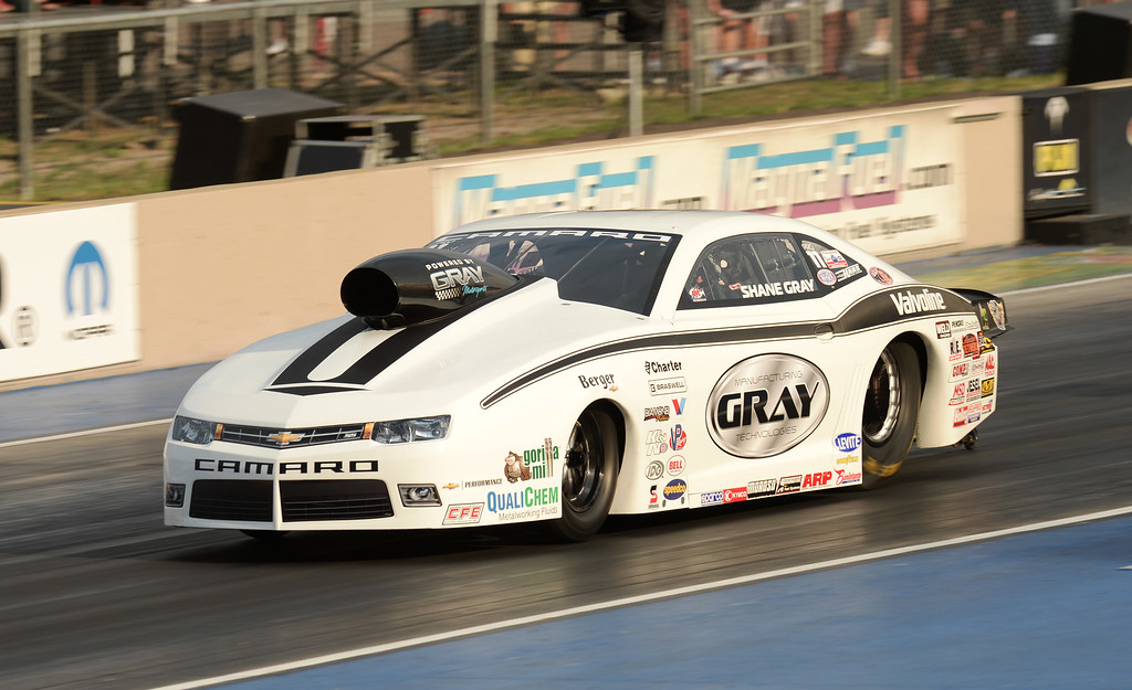 . MORRISON, CO - JULY 19: Pro Stock racer Shane Gray is in action during Mopar Mile-High NHRA Nationals at Bandimere Speedway. Morrison, Colorado. July 19. 2014. (Photo by Hyoung Chang/The Denver Post)