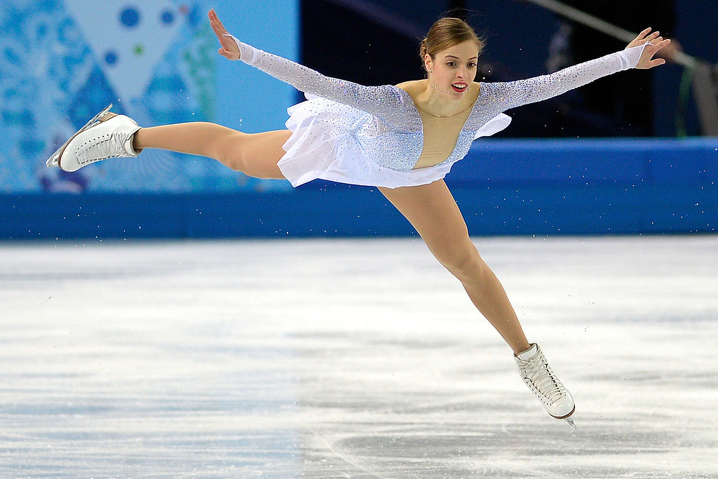. Italy\'s Carolina Kostner performs en route to scoring a 70.84 during team figure skating on Saturday, February 8, 2014. (Photo by AAron Ontiveroz/The Denver Post)