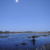 Tim Brass of Ft. Collins sets decoys under the full moon at dawn last week as he prepares for a morning duck hunt near Jackson Lake State Park.<br /> Scott Willoughby, The Denver Post