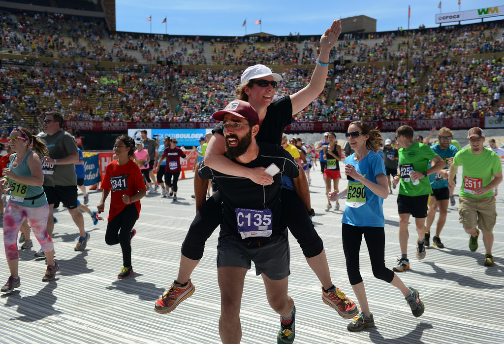 . More than 50,000 people ran the 36th Annual BolderBOULDER 10K road race on Memorial Day, May 26, 2014.  (Photo By Lindsay Pierce/The Denver Post)