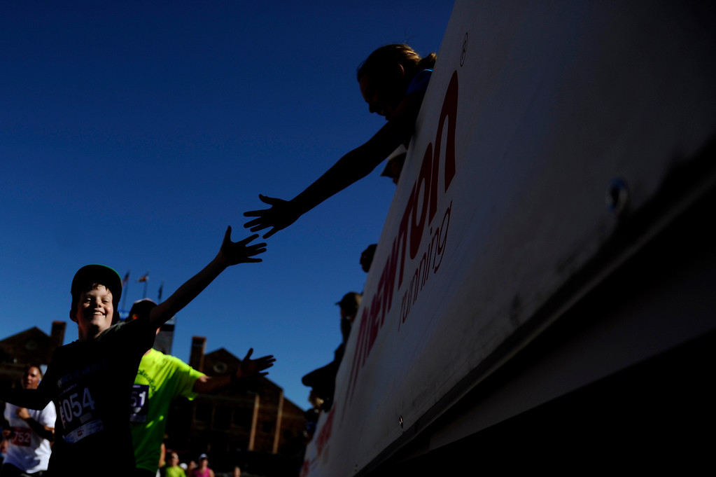 . More than 50,000 people ran the 36th Annual Bolder Boulder 10K road race on Memorial Day, May 26, 2014. (Photo By Lindsay Pierce/The Denver Post)