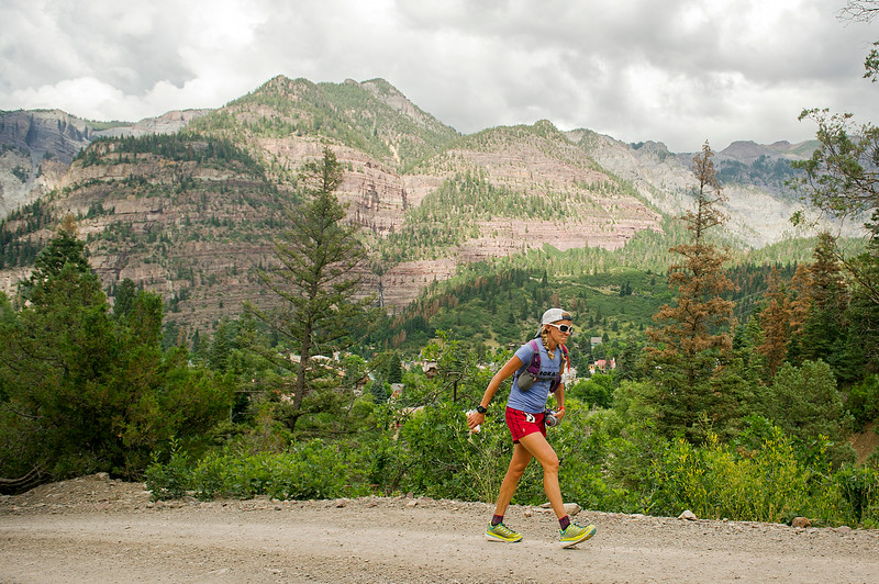 . Darcy Piceu Africa #5 races up Box Canyon near mile 44 of the 100.5-mile Hardrock 100 Endurance Run on July 11, 2014, in the San Juan Mountains in Ouray, Colorado. Africa at the time was the second women behind Diana Finkel. (Photo by Daniel Petty/The Denver Post)