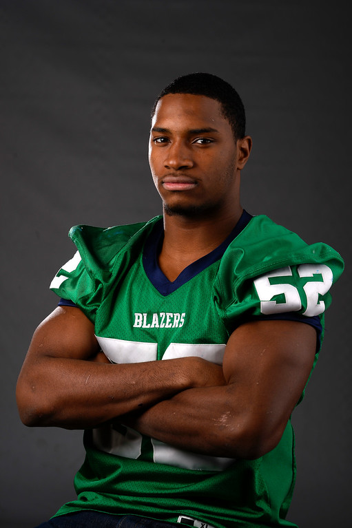 . LB Tre Thomas, Overland, Sr. All Colorado football team 2013. (John Leyba/The Denver Post)