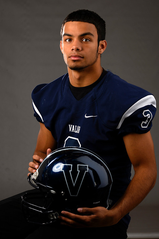 . DB Marcus Wilson, Valor Christian, Sr All Colorado football team 2013. (John Leyba/The Denver Post)