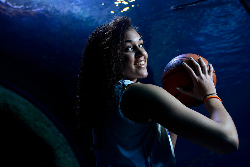 . DENVER, CO - APRIL 02: Poudre\'s Myanne Hamm poses for a portrait. All-state boys and girls basketball portraits at the Downtown Aquarium on Wednesday, April 2, 2014. (Photo by AAron Ontiveroz/The Denver Post)