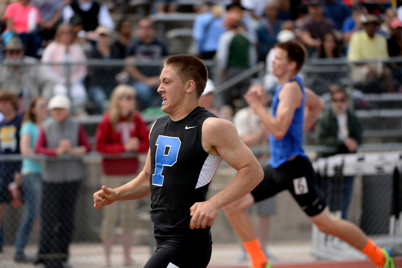 . Poudre High School\'s Spencer Long won 5A boys 300-meter hurdles during Colorado high school state track and field meet at Jeffco Stadium. Lakewood, Colorado. May 17. 2014. (Photo by Hyoung Chang/The Denver Post)