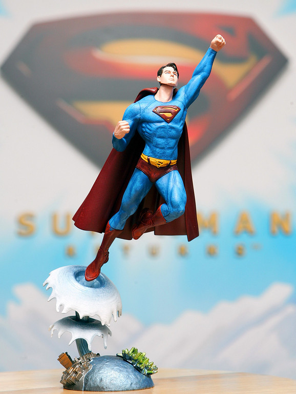 . Mattels Superman doll is shown Thursday, Feb. 9, 2006, at the American International Toy Fair in New York. (AP Photo/Dima Gavrysh)