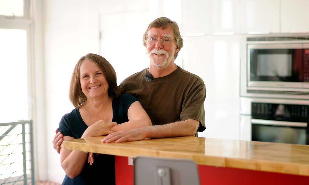 . Applebury, a data analyst, and Goeddel, who spent time in fields that included everything from instructional design to installing elevators in ski resorts, moved into their net-zero energy home in 2009. (Photo By Cyrus McCrimmon/The Denver Post)