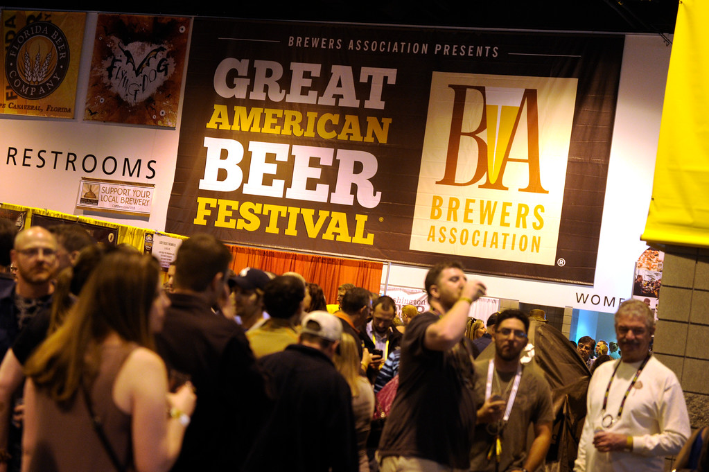 . DENVER, CO. - OCTOBER 12: Thousands of beer fans flocked to the Great American Beer Festival at the Colorado Convention Center Saturday afternoon, October 12, 2013. Photo By Karl Gehring/The Denver Post