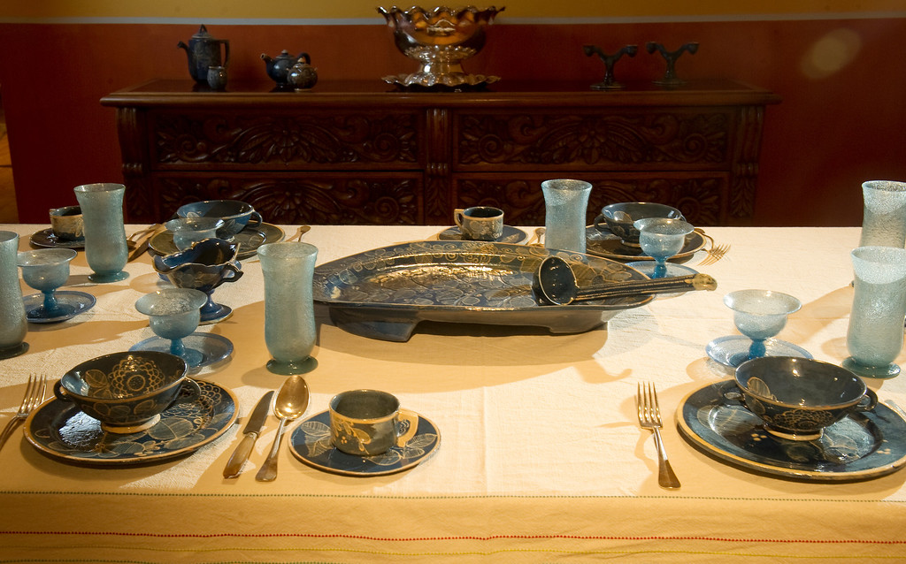 """. Museo de las Americas will soon open its new exhibit \""""La Cocina\"""" on October 17th. The dining room was photographed in a preview on Friday, October 11, 2013.  (Photo By Cyrus McCrimmon/ The Denver Post )"""