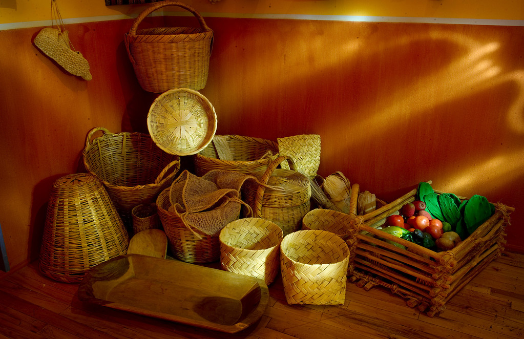 """. Museo de las Americas will soon open its new exhibit \""""La Cocina\"""" on October 17th. Baskets in the kitchen were photographed in a preview on Friday, October 11, 2013.  (Photo By Cyrus McCrimmon/ The Denver Post )"""