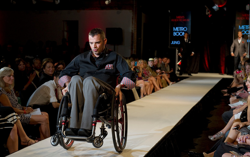 . DENVER, CO - SEPTEMBER 6:    The mens wear creations of Jung Park\'s Metroboom, which was a finalist at the Fashion Group International of Denver\'s Rising Star 2013 fashion show on Friday September 6, 2013  at the McNichols Building in Denver. (Photo By Cyrus McCrimmon/The Denver Post )
