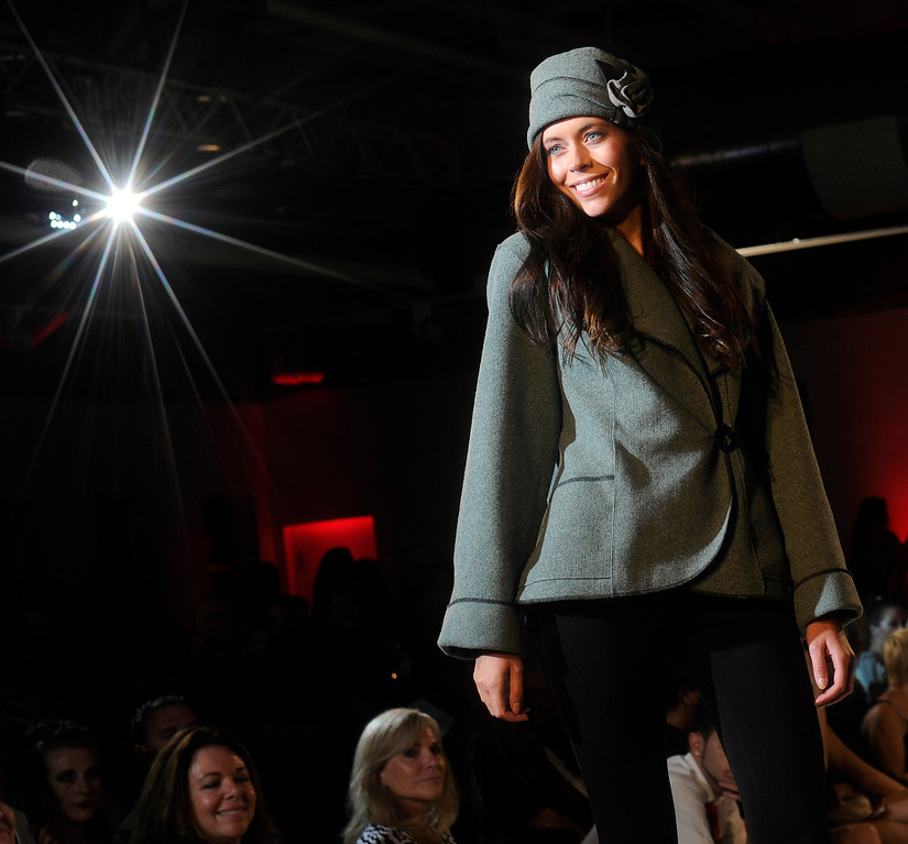 . DENVER, CO - SEPTEMBER 6:    Jan Erickson\'s active wear Janska which was a finalist at the Fashion Group International of Denver\'s Rising Star 2013 fashion show on Friday September 6, 2013  at the McNichols Building in Denver. (Photo By Cyrus McCrimmon/The Denver Post )