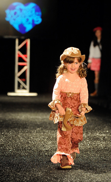 . DENVER, CO - OCTOBER 18 :  Young Colors attire for little people at the Celebrate Fashion in Cherry Creek North  Show. It  was held at the JW Marriott  Denver on Friday, October 18, 2013.   (Photo By Cyrus McCrimmon/ The Denver Post )