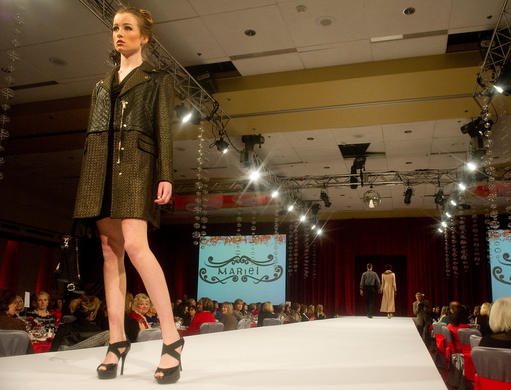 . The Brass Ring Fashion Show on Tuesday, November 19, 2013 at the Marriott City Center. The proceeds of this event will benefit The Guild of the Children�s Diabetes Foundation at Denver, and support the programs of The Guild including Helping Hand (families in need assistance program), Scholarship Program for young people with diabetes, Diabetes Awareness and Education Program and the Barbara Davis Center clinic and research programs. The Fashion Show featured Mariel�s Holiday Collection and a special presentation of evening wear by Alberto Makali. Photo By Cyrus McCrimmon/The Denver Post)