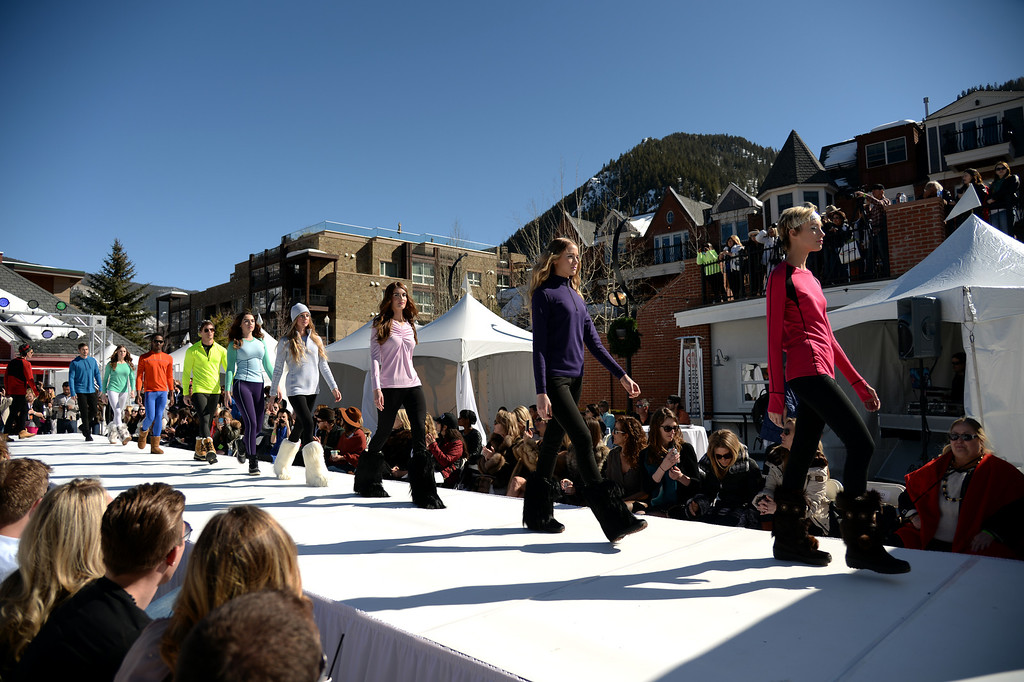 . Polarmax Layers for Life in Aspen International Fashion Week 2014. Aspen Colorado. March 14. 2014. (Photo by Hyoung Chang/The Denver Post)