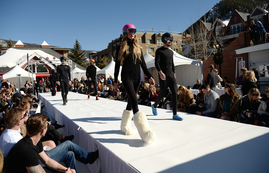 . Snowlink.com Accessory Spotlight. Aspen International Fashion Week 2014. Aspen Colorado. March 14. 2014. (Photo by Hyoung Chang/The Denver Post)