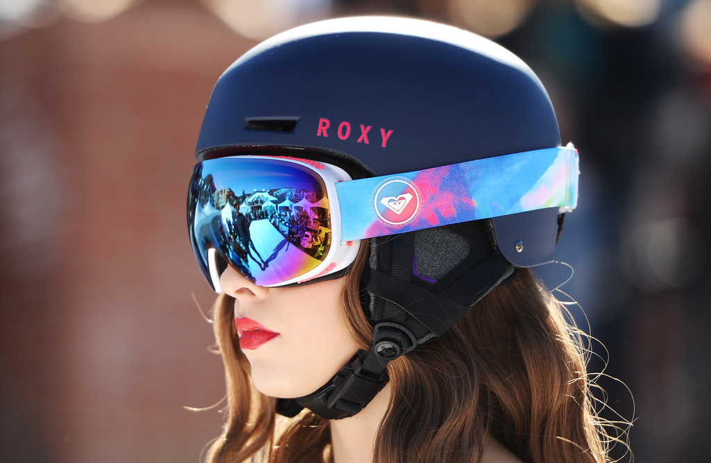 . Roxy helmet and google. Apres Ski Stage of Aspen International Fashion Week 2014. Aspen Colorado. March 14. 2014. (Photo by Hyoung Chang/The Denver Post)