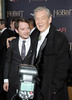 "Elijah Wood (L) and Sir Ian McKellen attend ""The Hobbit: An Unexpected Journey"" New York premiere benefiting AFI at Ziegfeld Theater on December 6, 2012 in New York City.  (Photo by Michael Loccisano/Getty Images)"
