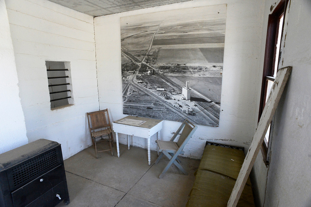 . HASWELL, CO - MAY 29:  A large picture of the town of Haswell Colorado hangs on the wall of the guard\'s quarters of what is billed as the Nation\'s Smallest Jail, now a tourist attraction in Haswell Colorado, Wednesday May 29, 2013. The detainee\'s cell is to the left. The Intel Corporation, an American multi-national semiconductor computer chip maker, has codenamed their latest and greatest new chip after the small town of Haswell. (Photo By Andy Cross/The Denver Post)