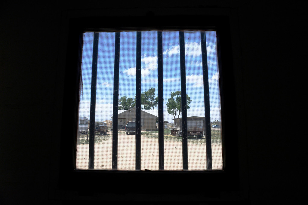 . HASWELL, CO - MAY 29:  A detainee\'s view of the world from inside of a tiny jail cell billed as the Nation\'s Smallest Jail, now a tourist attraction in Haswell Colorado, Wednesday May 29, 2013. The Intel Corporation, an American multi-national semiconductor computer chip maker, has codenamed their latest and greatest new chip after the small town of Haswell. (Photo By Andy Cross/The Denver Post)